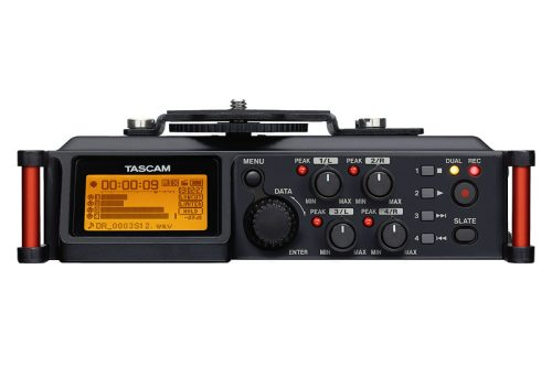 Tascam DR-70D 4-channel audio recorder for HDSLR cameras