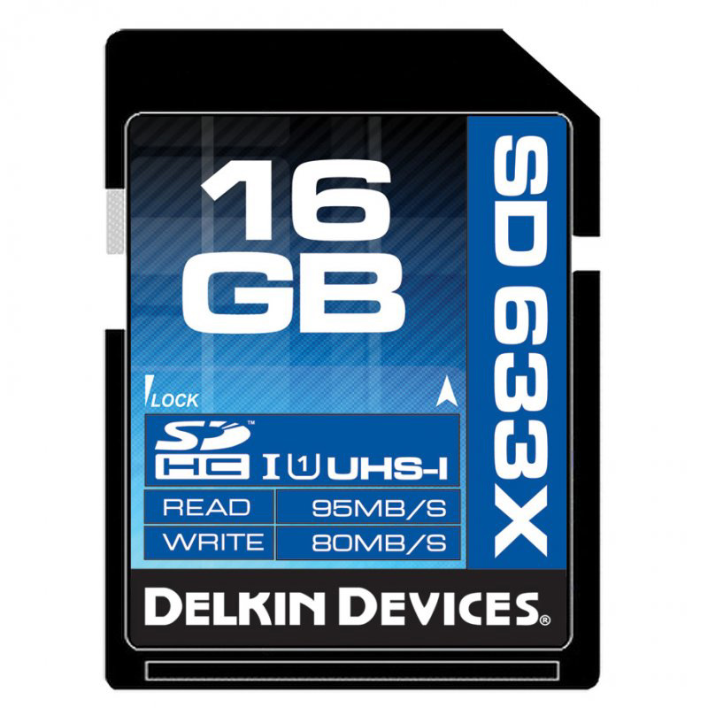 Delkin Best 16GB SDHC 633X UHS-I Memory Card