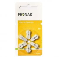 Phonak in-ear receiver batteries