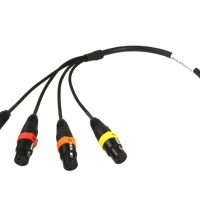 Remote Audio Balanced 4-CH Analog Breakout Cable for Zaxcom (CADEV16F12IN)