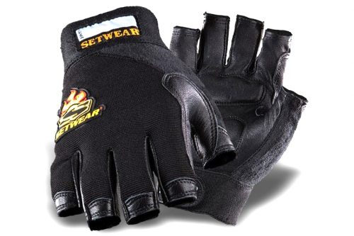 SetWear Leather Fingerless Gloves