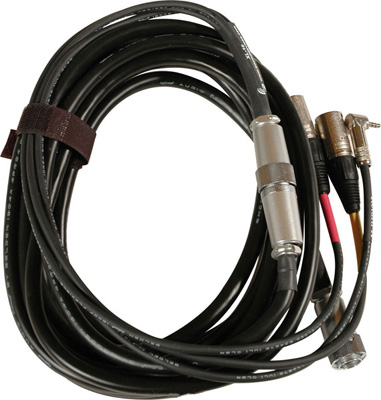 Sound Devices XL-10 Hirose 10-pin to Two-XLR Breakout Cable