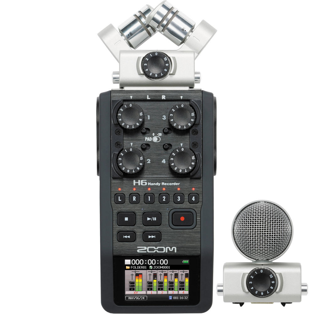 Zoom H6 Portable Digital Recorder