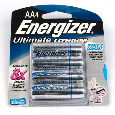 Energizer AA Ultimate Lithium Battery. 4 Pack.