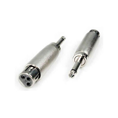 "1/4"" mono male > 3 pin XLR female"