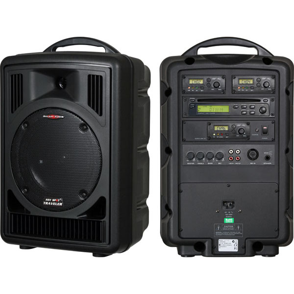 Galaxy Traveler Battery Powered Speaker w/Onboard Wireless Receiver and Handheld Transmitter