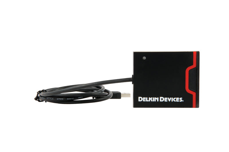 Delkin Devices DDREADER-44 USB 3.0 Dual Slot SD UHS-II & CF Memory Card Reader